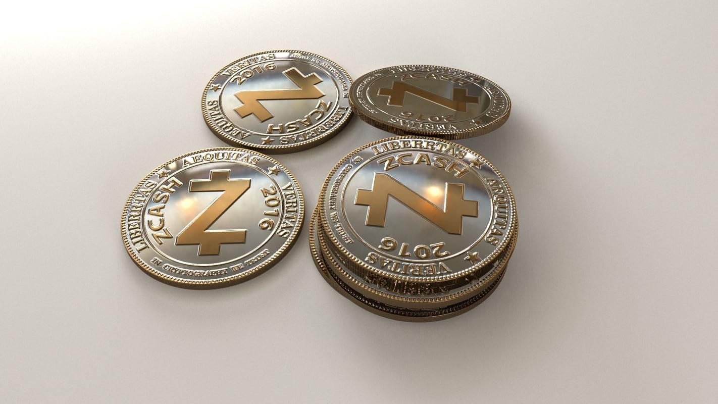 zcash coin 3D model