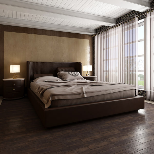 3D model bedroom interior scene