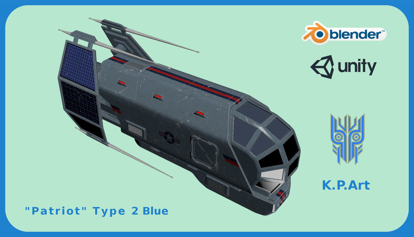 space ship patriot type 3D model