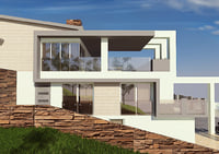 3D storey pool garage model