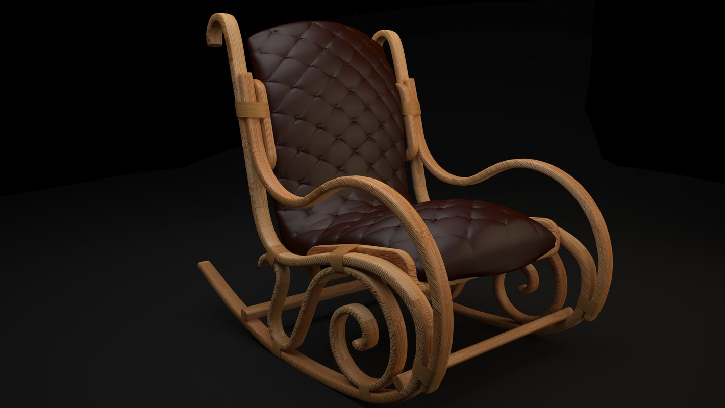 leather wood chair model