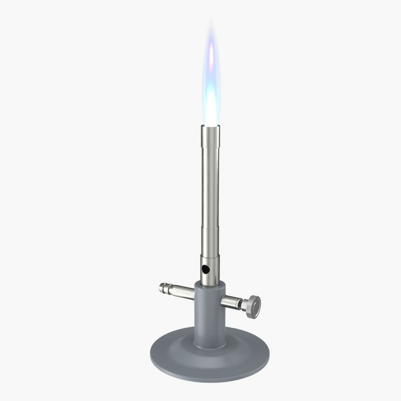 3D model realistic gas burner