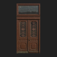 3D door wood art nouveau