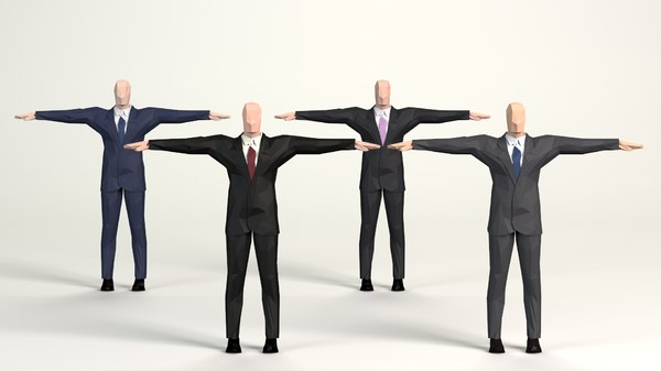 3D cartoon men business