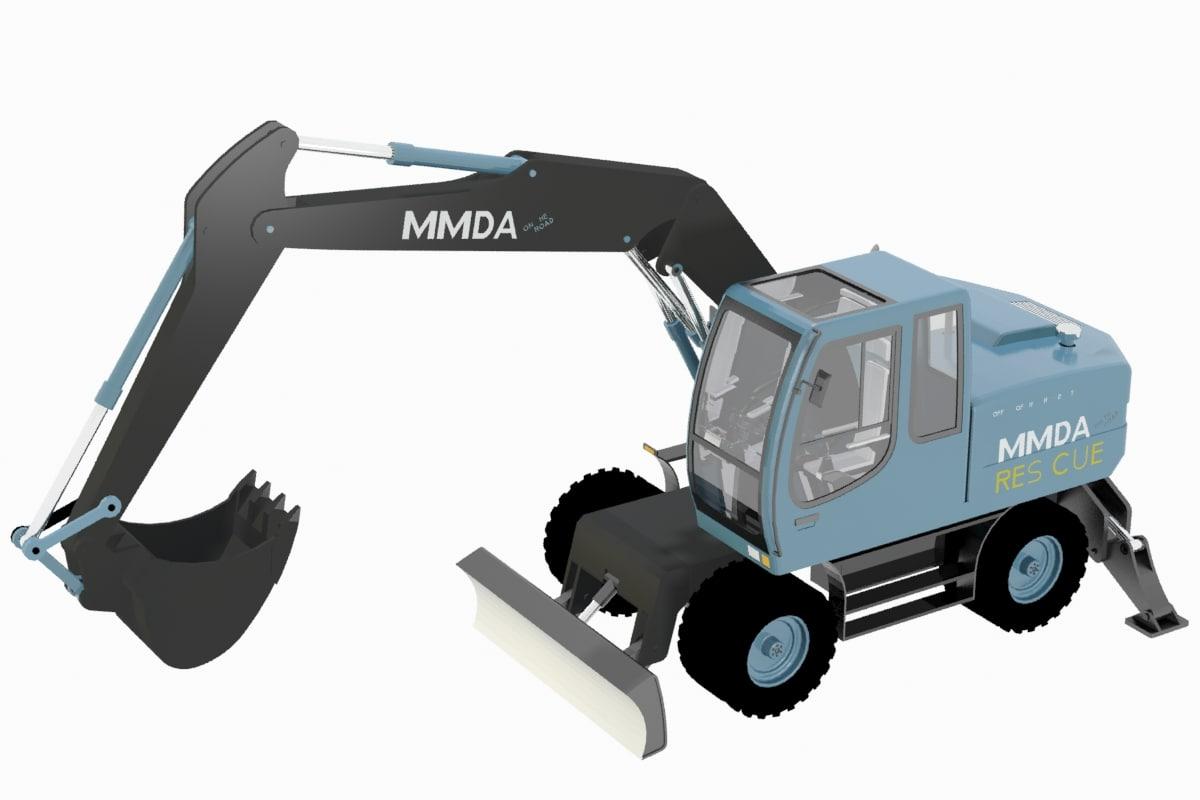 3D excavator mmda