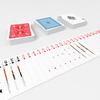 3D set poker card model