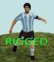 diego maradona 3D model