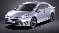 3D toyota 2017 avensis model