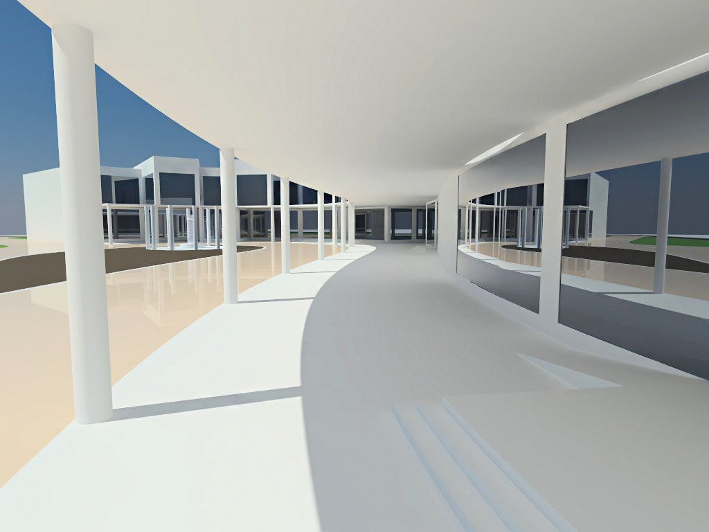3D model building art museum