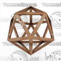 3D model icofaedron epipedon leonardo