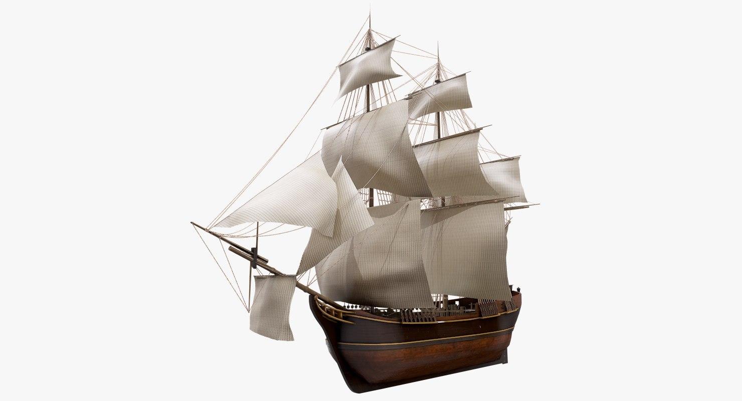 3D model hms bounty