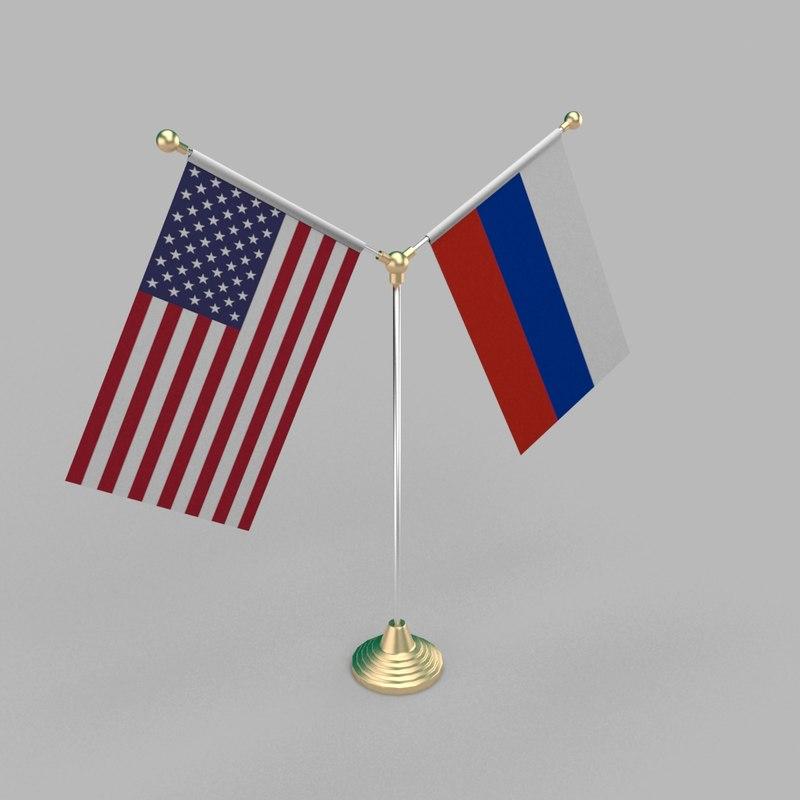 table friendship flag 3D model