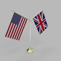 United States of America & United Kingdom Friendship Table Flag