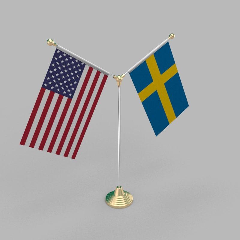 table friendship flag model