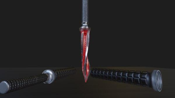 microtech jagdkommando tri-edge dagger 3D model