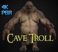 3D cave troll