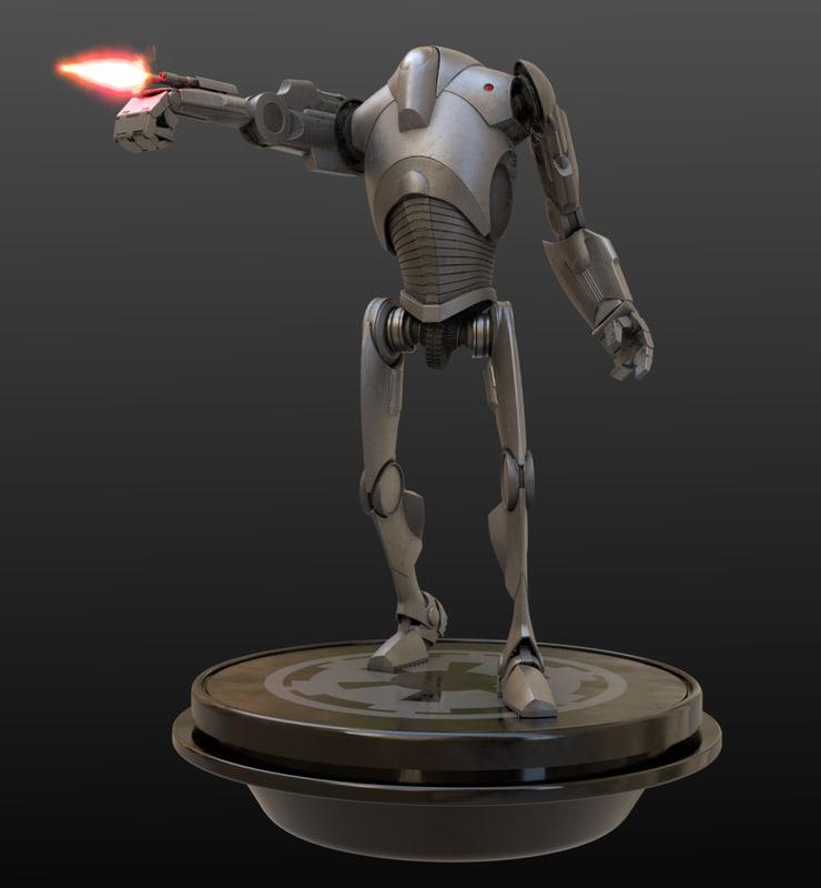 3D b2 battle droid