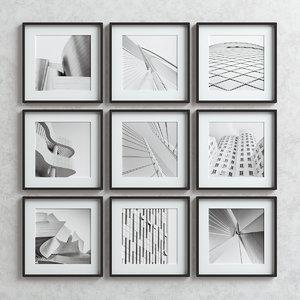 picture frames set -4 3D