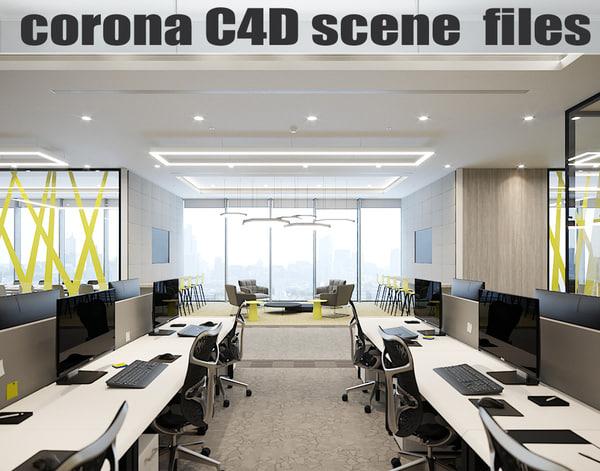 corona files - office model