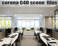 Corona for C4D scene files - Office Space 3D model