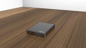 3D model external harddrive
