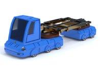 3D scifi truck model