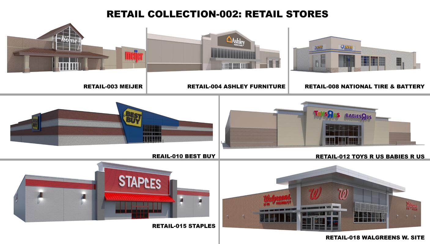 3D retail stores