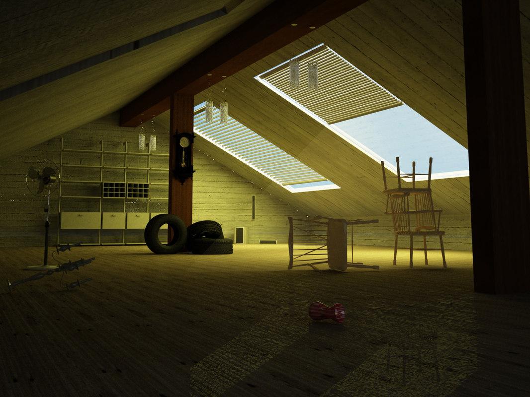 interior deserted 3D model
