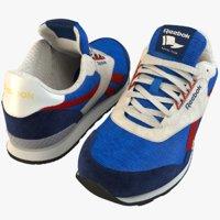 3D model reebok sneakers
