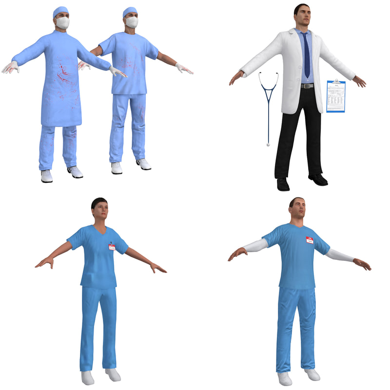 3D pack surgeon doctor model