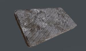 3D worn mattress pbr