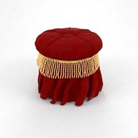 puff red pouf 3D