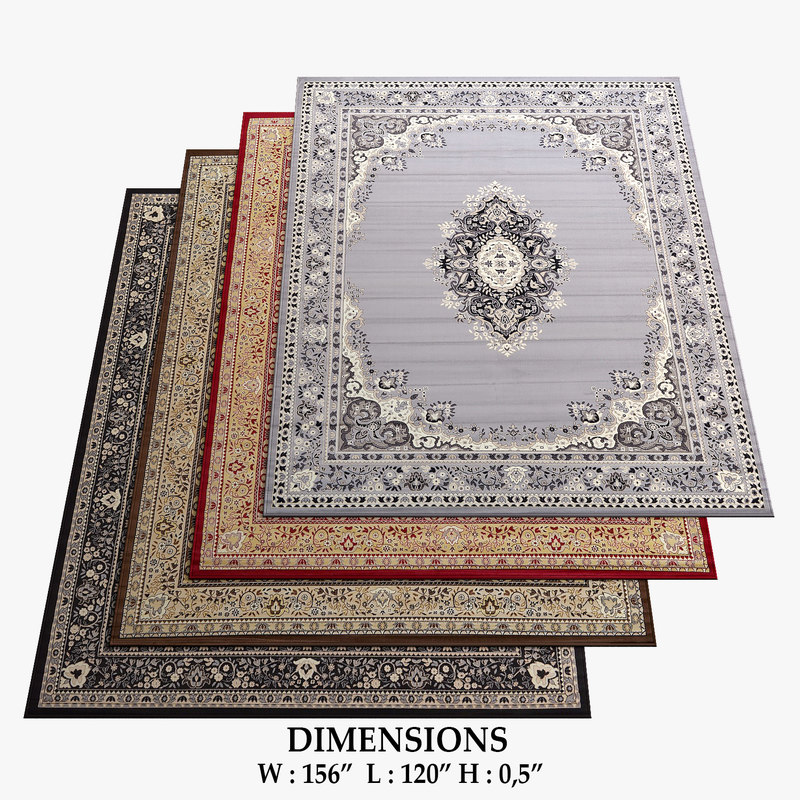 traditional rugs 16 3D model