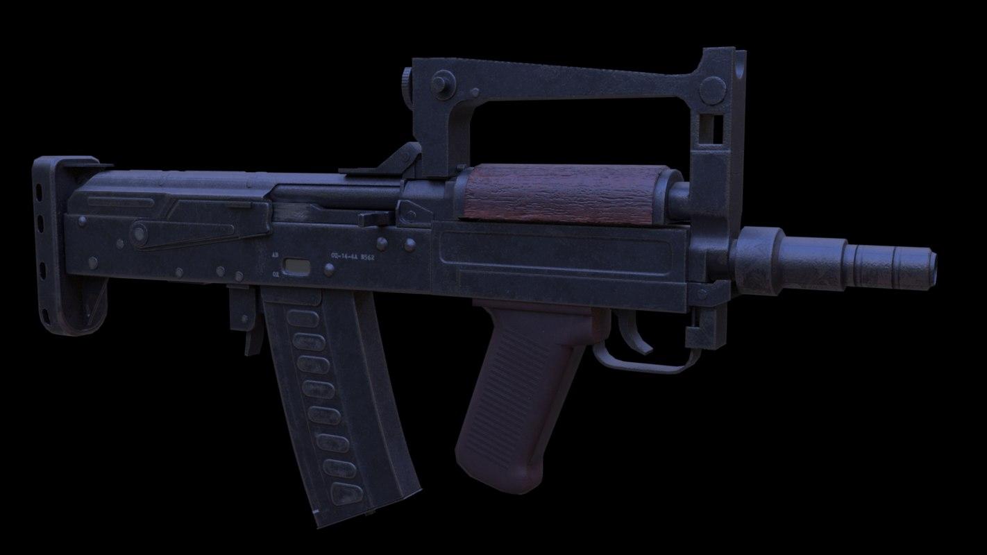 3D ots-14 groza bullpup assault rifle model