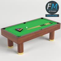 pool billiard snooker table 3D model