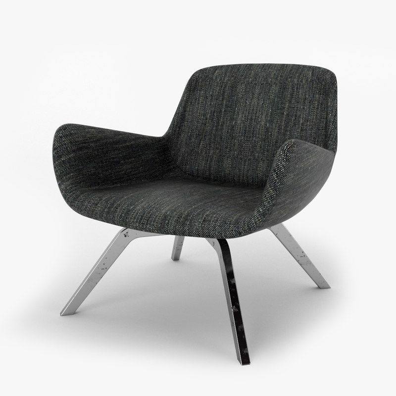 3D armchair-001 rendered ready model