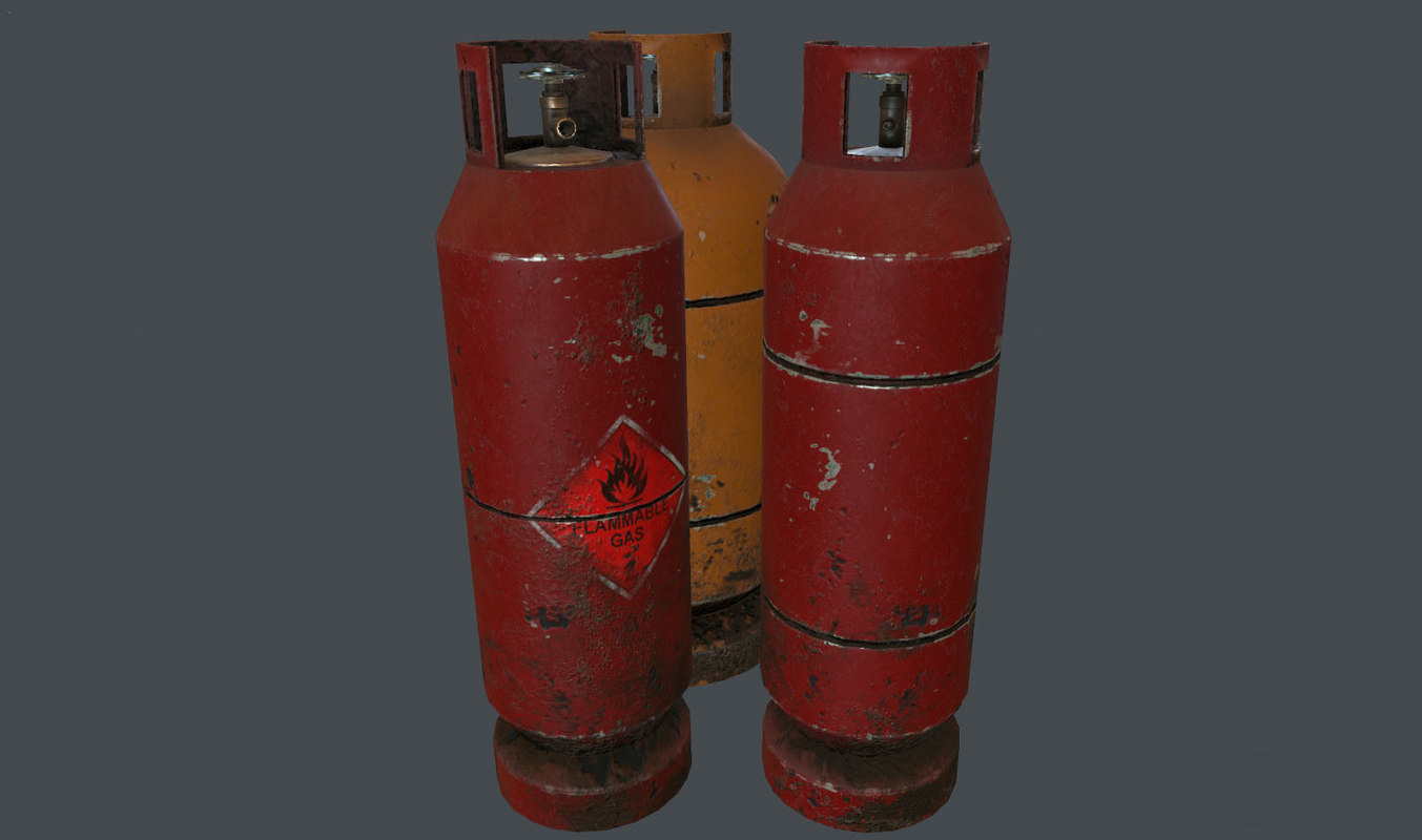 3D gas tanks pbr model