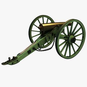1857 12-pounder napoleon field 3D