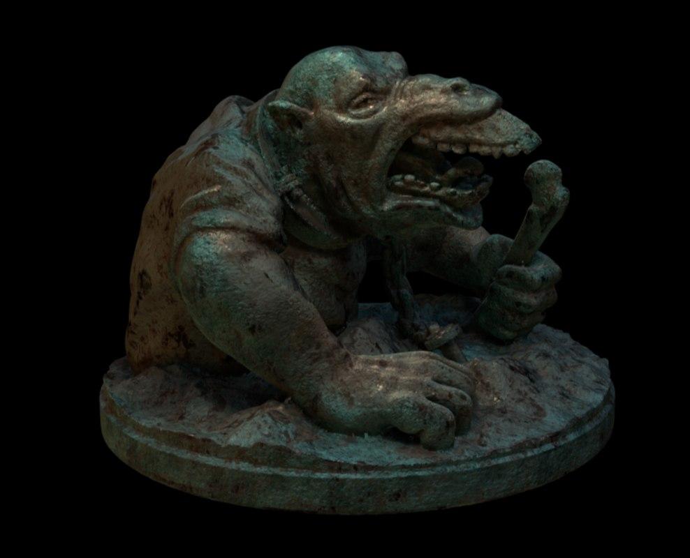 3D model statue bone