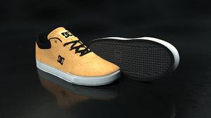 dc shoe beige - 3D