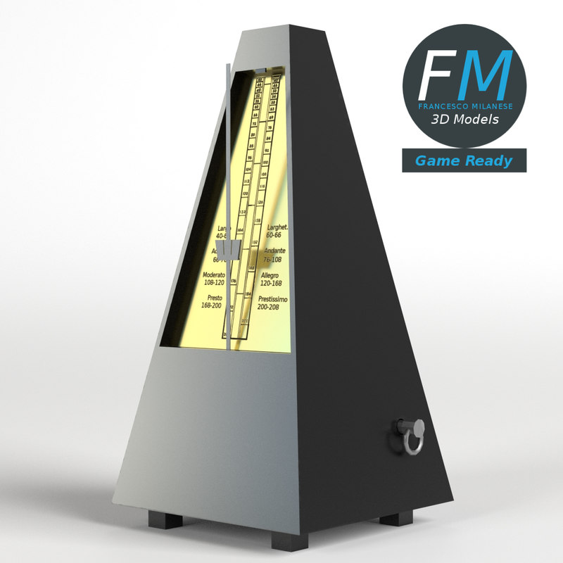 3D metronome swinging pendulum model