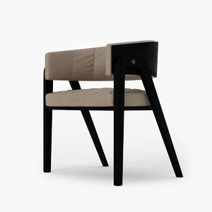 chair dinner 3D model