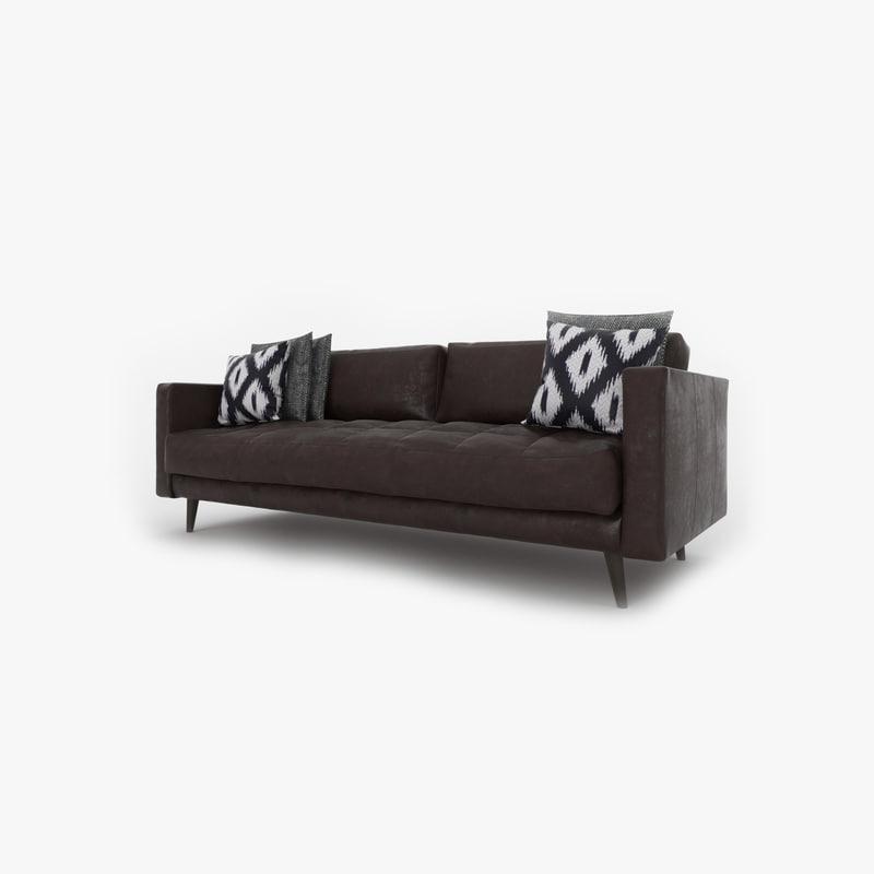 3D leather sofa 001