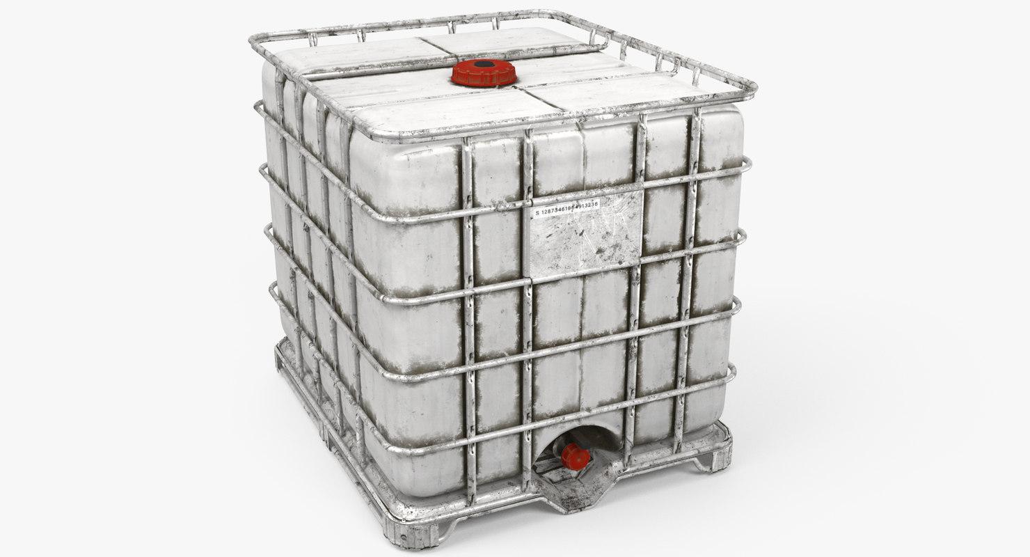 3D water storage tank