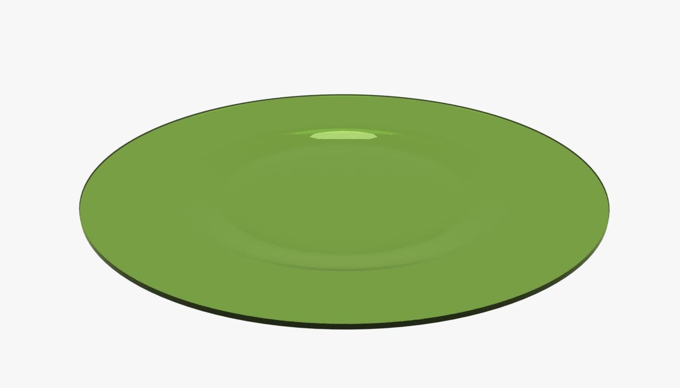 3D model green plate