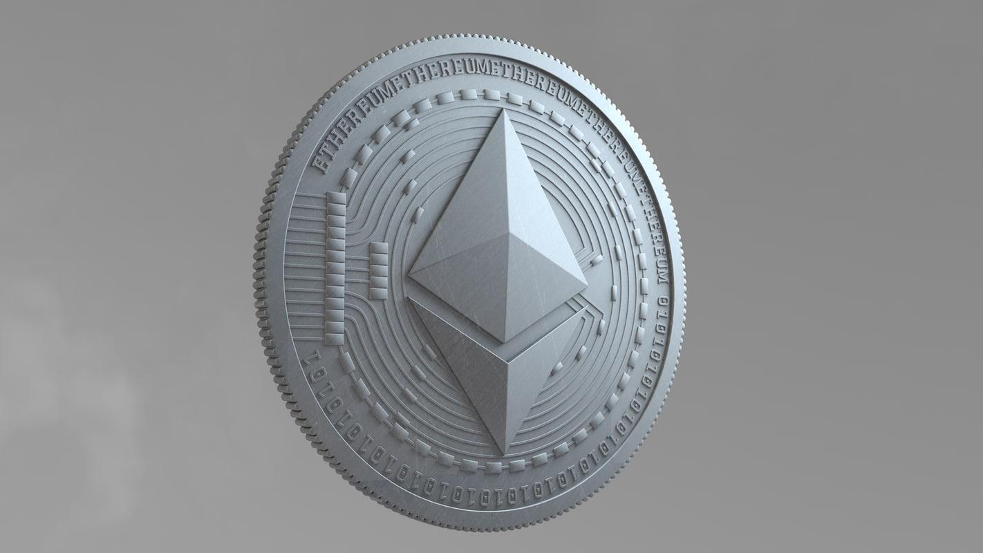 ethereum coin 3D model