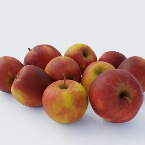 photoscanned apples pack 1 3D model