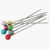 3D needle pins
