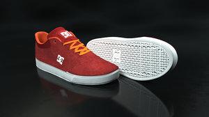 3D dc shoe orange-red -
