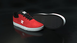 3D model dc shoe red -